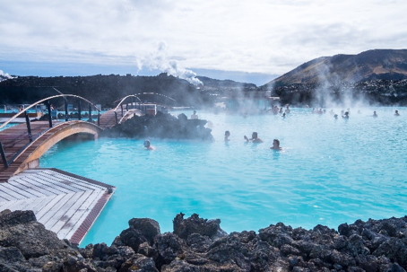 blue lagoon thermal spring in iceland